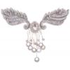 Motif Beaded 23.5cmx6cm Crystal stone Silver Aurora Borealis